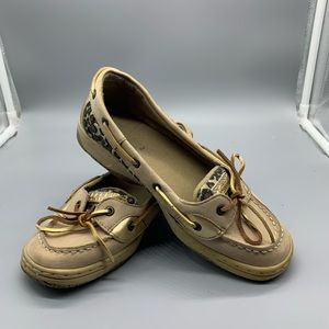 Sperry leopard print loafers